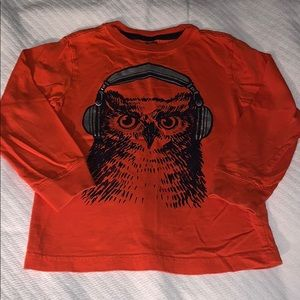 Gymboree Orange Long Sleeve Owl with Headphones